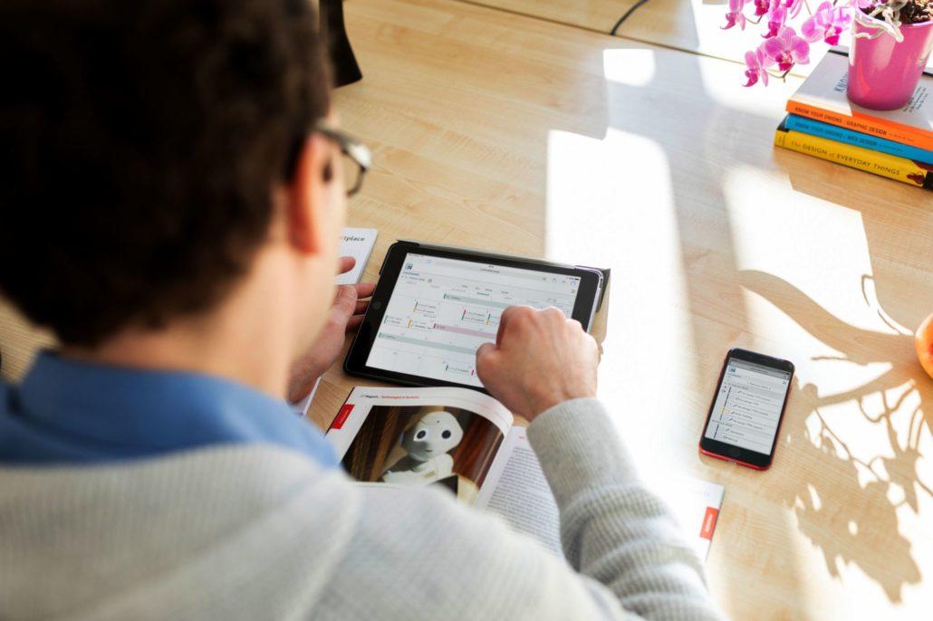 webbasierte Zeiterfassung mit CEITON per Tablet oder Handy