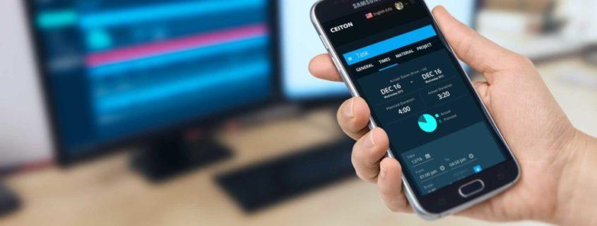 Responsives Design ermöglicht mobile Zeiterfassung mit dem Handy